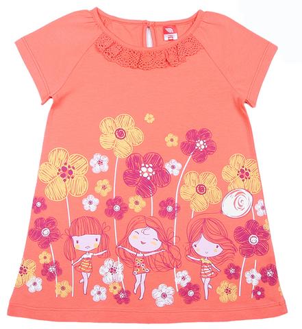 Cherubino Платье ясельное CSB61823 персиковое