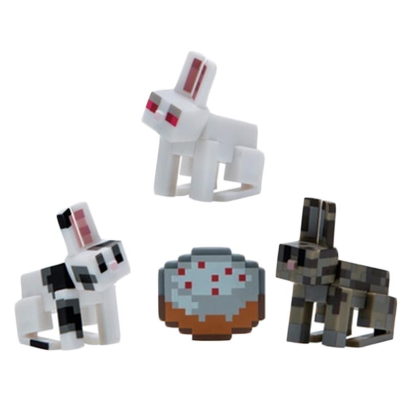 Набор фигурок Майнкрафт Кролики с пирогом