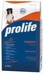 Сухой корм для собак, Prolife Dog Adult Runner, с курицей и рисом