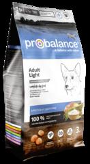 Корм ProBalance Light для собак с низкой или нормальной активностью
