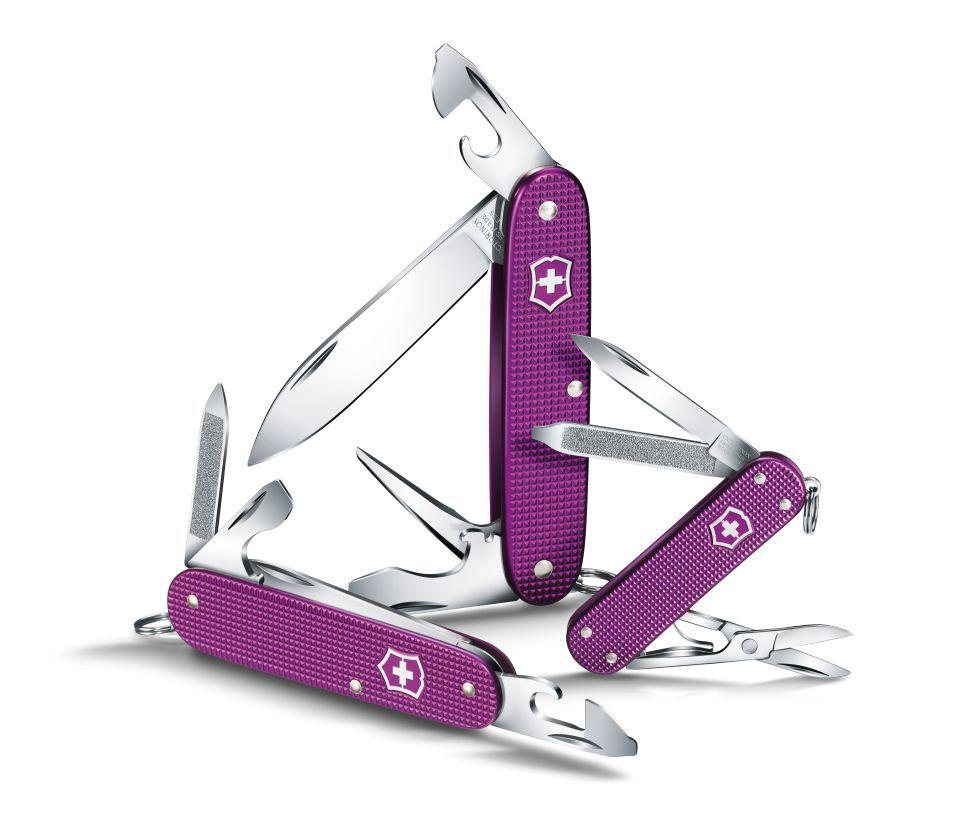 Швейцарский нож Victorinox Pioneer Alox, 93 мм, 8 функ, фиолетовый (0.8201.L16)