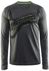 Рубашка беговая Craft Gain Training gray мужская