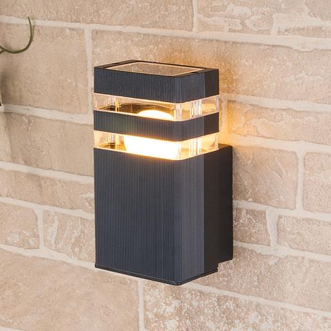 Уличный настенный светильник 1450 TECHNO черный