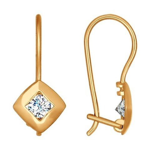 Серьги из золота с фианитами арт. 027174 SOKOLOV