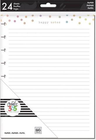 Дополнительный блок листов для ежедневника Happy Planner Classic -Foil Happy Notes Fill Paper