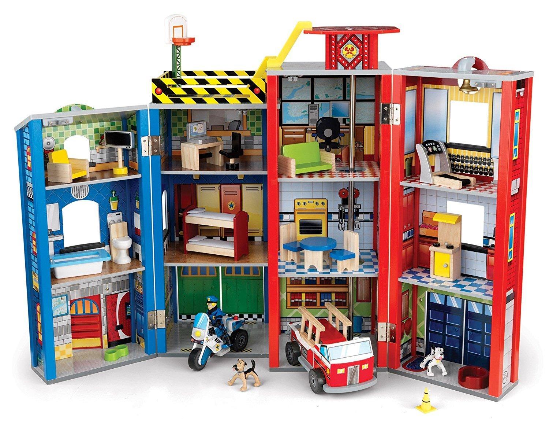KidKraft Здание спасательной службы Everyday Heroes Wooden Play Set - игровой набор для мальчиков