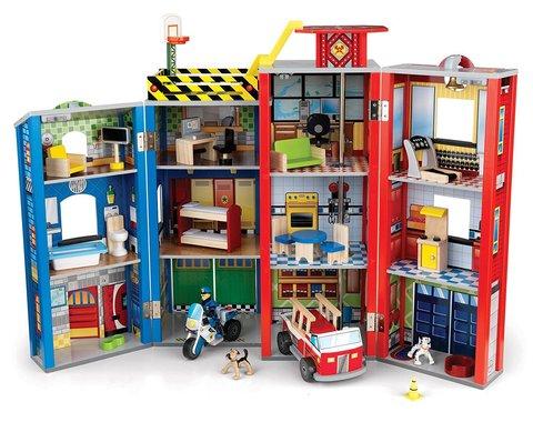 KidKraft Здание спасательной службы Everyday Heroes Wooden Play Set - игровой набор для мальчиков 63239_KE