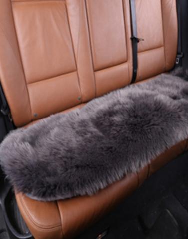 Подушка на заднее сиденье из искусственного меха (длинный ворс)