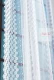 Тюль сетка с вышивкой Ромашки-T (белый)