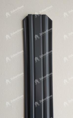 Евроштакетник металлический 85 мм RAL 7024 П - образный двусторонний 0.5 мм