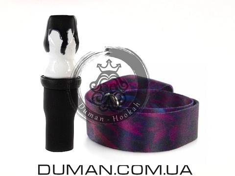 Персональный мундштук Gusto Bowls (Густо Болс) для кальяна |Black-White Gradient