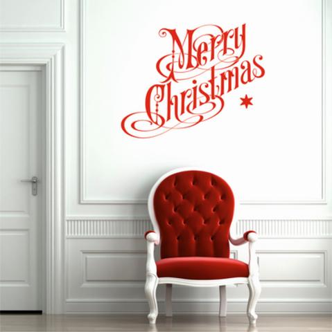 Виниловая наклейка, декор, рождество