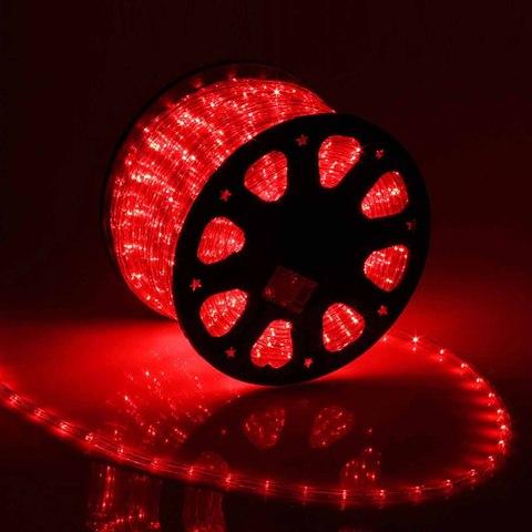 Дюралайт светодиодный, чейзинг, 13мм - 3 жилы - 36 led/m, Красный - 50м