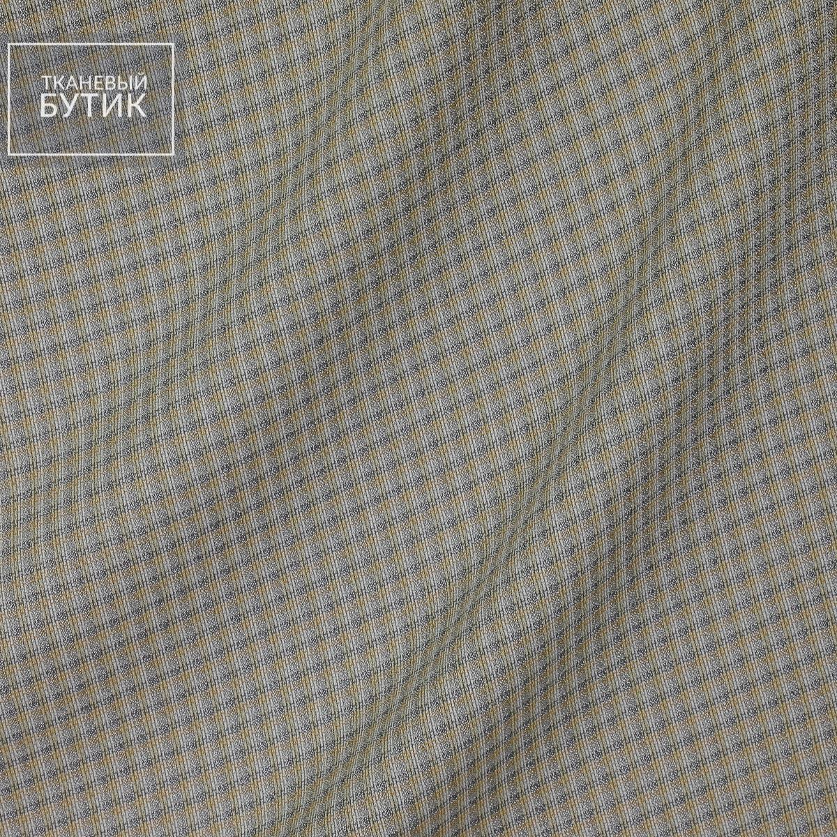 Тепло-серый лен с вискозой и шелком