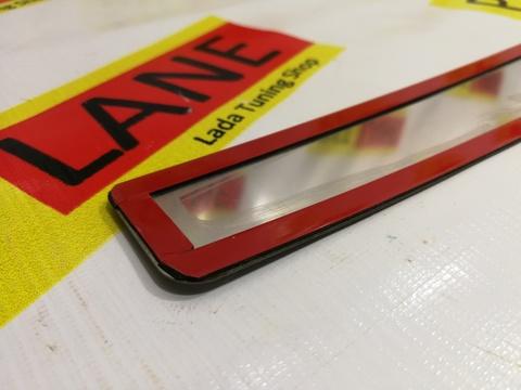Накладка на задний бампер с лазерной гравировкой Лада Веста (седан, SW)