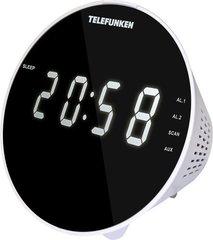 Радиочасы TELEFUNKEN TF-1572 белый с бел