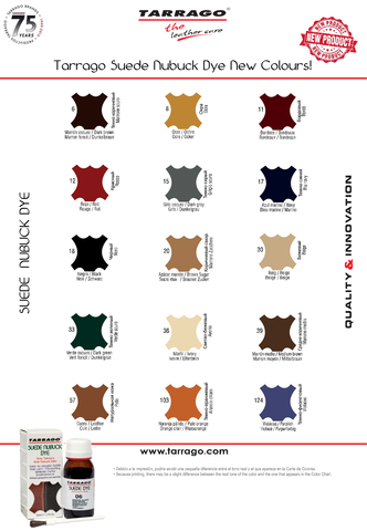 Профессиональная краска для обуви из замши и нубука TDC16 TARRAGO SUEDE DYE, флакон, 50 мл. (15 цветов)