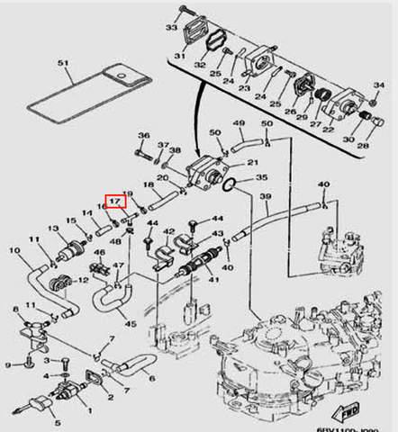 Тройник для лодочного мотора F5 Sea-PRO(9-17)