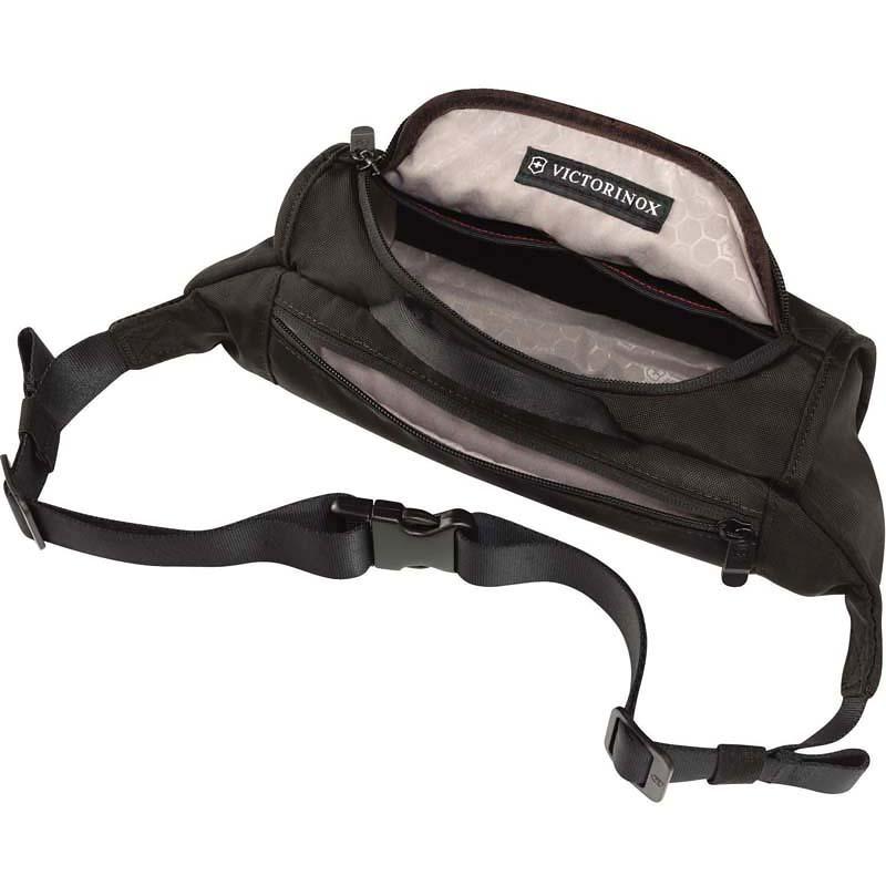 Сумка на пояс Victorinox Lumbar Pack, черный, 27x7x15 см, 3 л