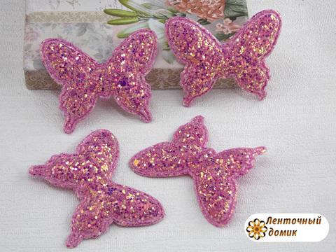 Мягкий декор Бабочки конфетные малиновые