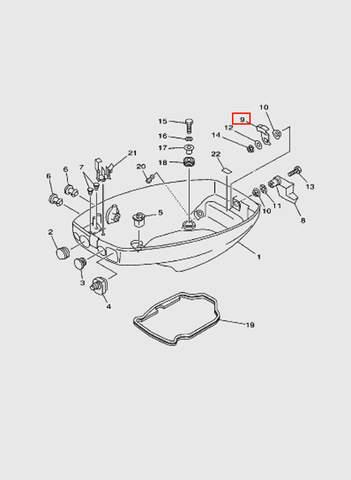 Защелка колпака  для лодочного мотора T15, OTH 9,9 SEA-PRO (10-9)