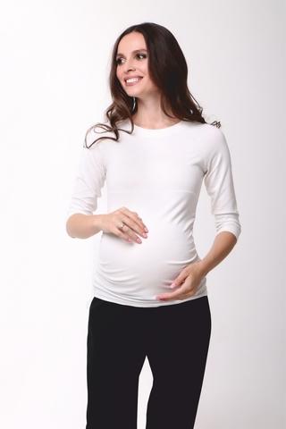 Лонгслив для беременных цвет молочный