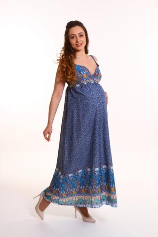 Платье для беременных 10334 синий