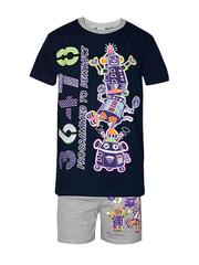 M005-1 Костюм детский (футболка+шорты), темно-синий