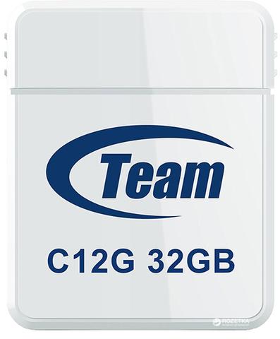 Накопитель Team C12G 32GB USB 2.0 White (TC12G32GW01)