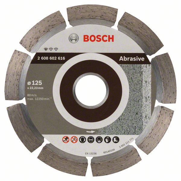 Алмазный диск Standart for Abrasive 125-22,23 Bosch 2608602616