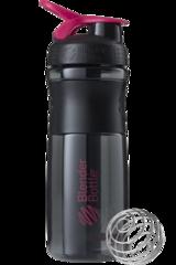 BlenderBottle SportMixer, Универсальная Спортивная бутылка-шейкер с венчиком.  Black-Pink-черный-малиновый 828 мл cat