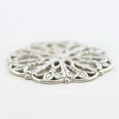 Винтажный декоративный элемент - филигрань 23 мм (оксид серебра)