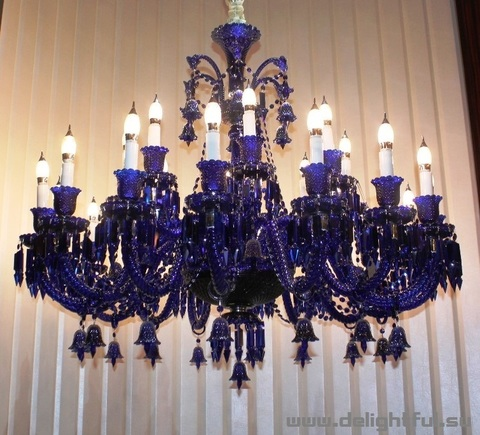 replica  ZÉNITH CHANDELIER ( 18 lights + 9 +  BLUE  )