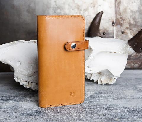 Длинный кошелек ручной работы из натуральной кожи. «Boroda Design»