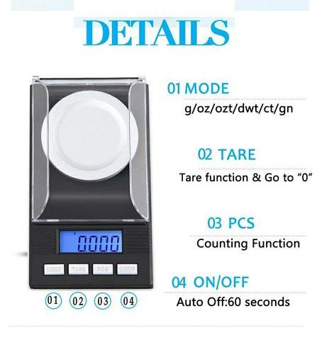 Высокоточные электронные весы до 50 грамм, с точностью 0,001