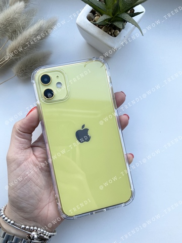 Чехол iPhone 11 Simple simple angle silicone /transparent/ 443
