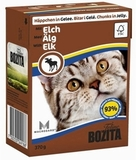 BOZITA Feline Chunks in Jelly Elk Консервы для кошек Кусочки в желе с ЛОСЕМ 1х370 г. (4918)