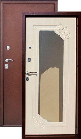 Дверь входная Город Мастеров Селенга, 2 замка, 1,5 мм  металл, (медь антик+венге светлый)