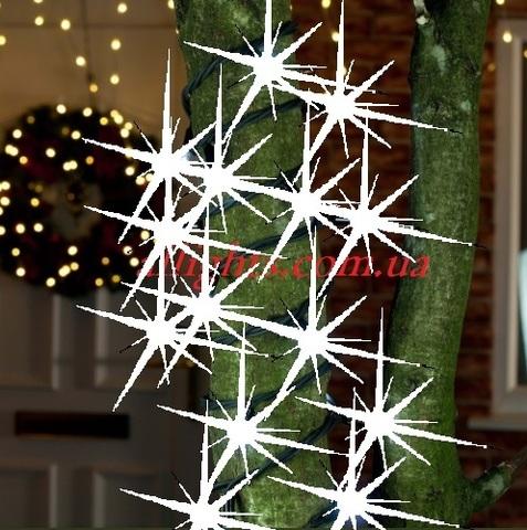 Вулечна світлодіодна гірлянда на дерева с блиньканьем мерцанням led flesh