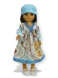 Платье этническое - На кукле. Одежда для кукол, пупсов и мягких игрушек.