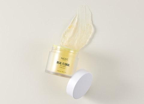 Успокаивающий увлажняющий гель-крем с лепестками календулы, 100 г / Nacific Real Floral Air Cream Calendula
