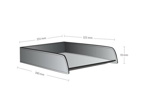 Схема с размерами горизонтального лотка для бумаг А4.