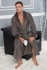 Классический мужской халат 2950-3 хаки  Nusa Турция