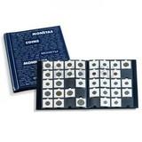 Альбом для монетных холдеров 50х50 мм, с 10 листами по 20 ячеек, синий