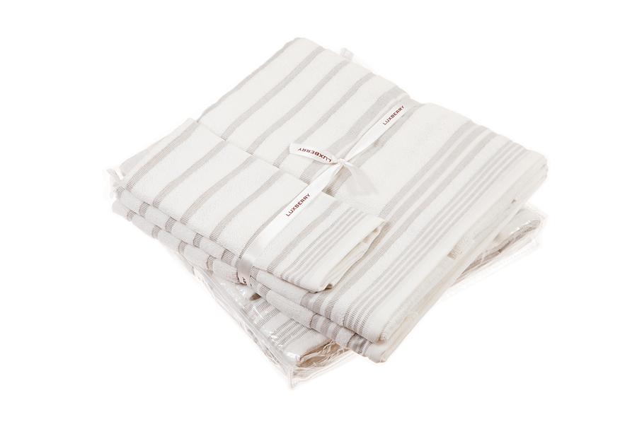 Наборы полотенец Набор полотенец 3 шт Luxberry SPA 4 белый/льняной nabor-polotenets-3-sht-luxberry-spa-4-belyylnyanoy-portugaliya.jpg