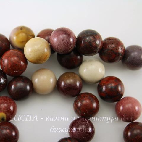 Бусина Яшма Мукаит, шарик, 10 мм, нить