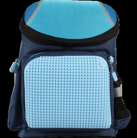 Школьный пиксельный рюкзак Super Class сине-голубой