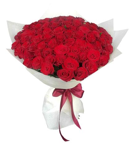 Букет из 101 розы (Бордо) 2
