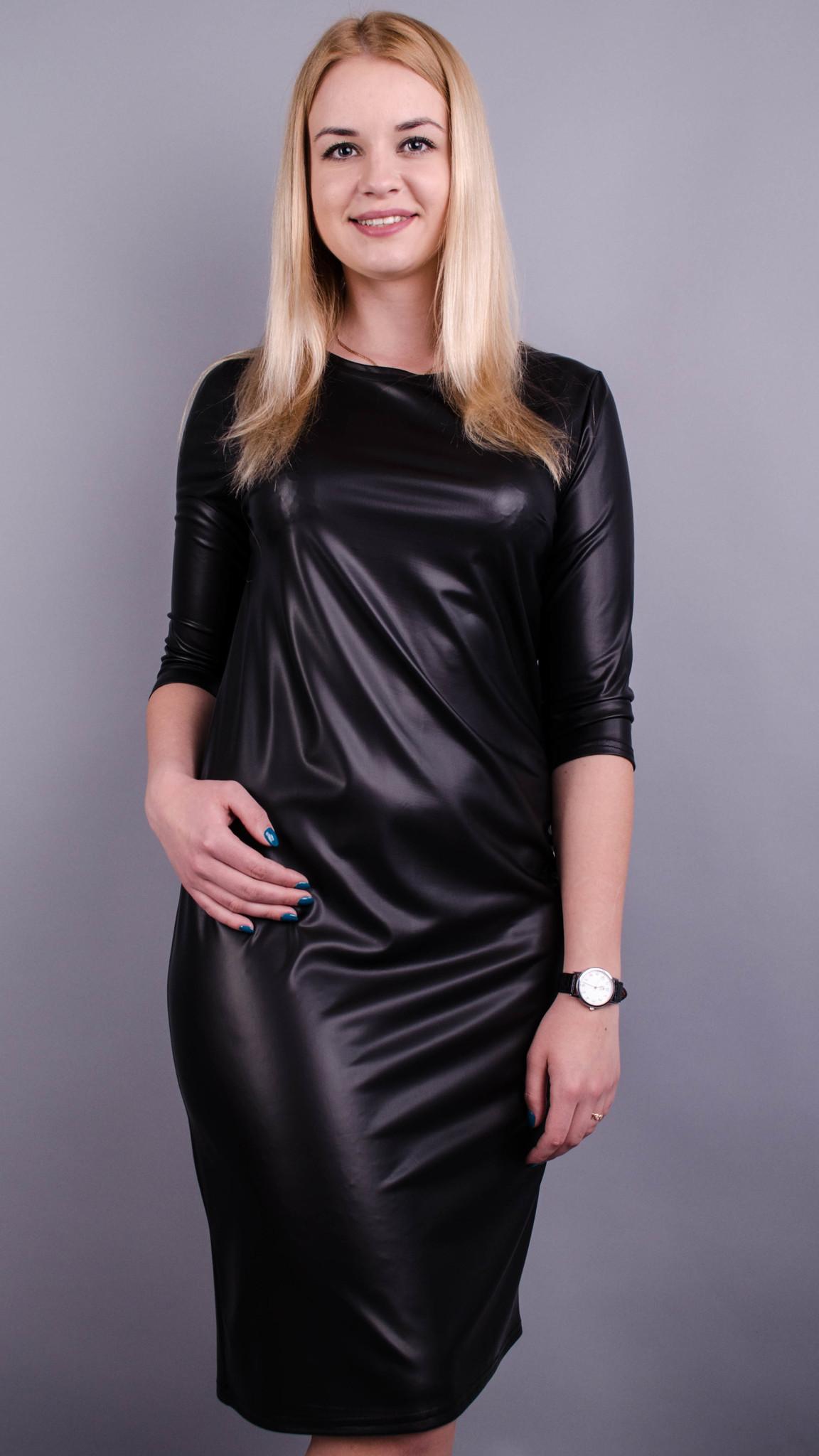 Стильна сукня великих розмірів для жінок. Чорний. ac9bd2e795429