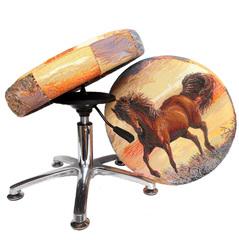 Танцующий Стул® для школьника регулируемый по высоте (дизайнерский) Конь-Огонь